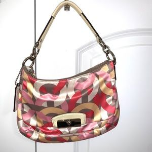 Coach Signature spring colors small hobo LIKE NEW